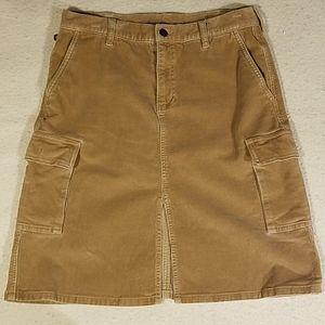 Ralph Lauren Tan Corduroy Cargo Skirt Sz 8